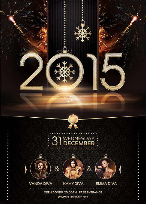 2015 nye flyer template you can download the psd file here flickr