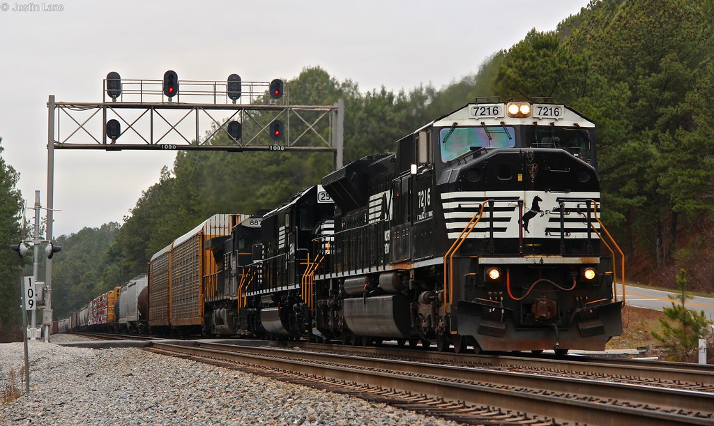 ... On a very over cast day we see NS 347 working Braswell Mountain with NS  7216