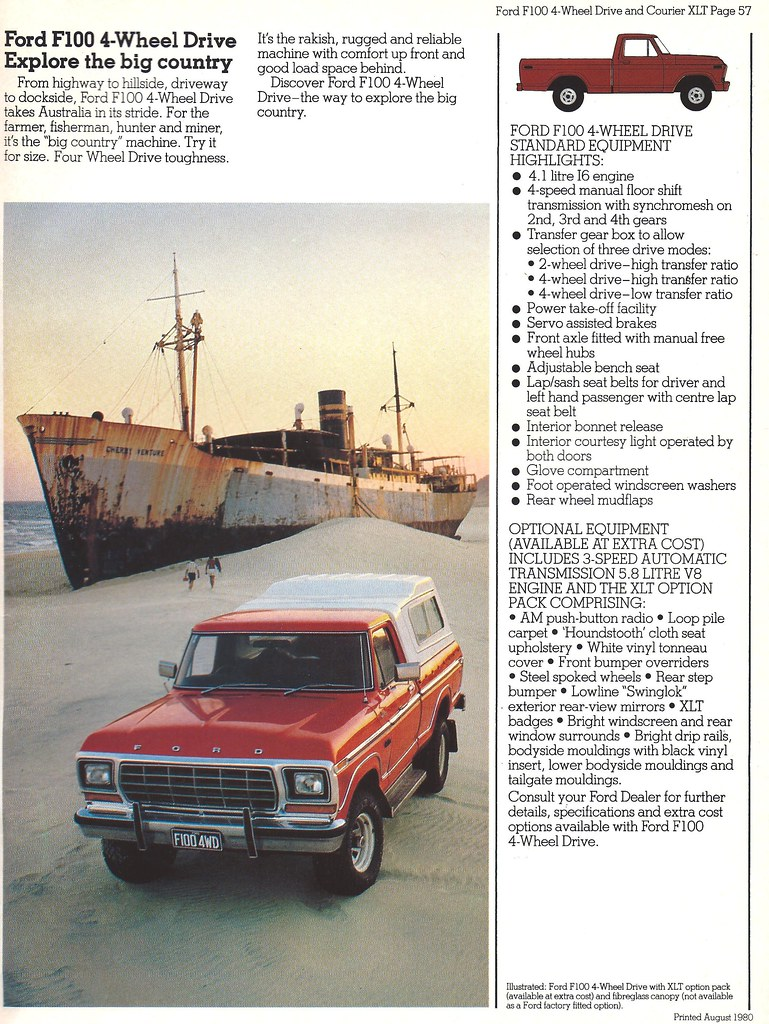 1980 Ford F 100 4x4 Pickup As Built And Sold In Australia Flickr By Hugo 90