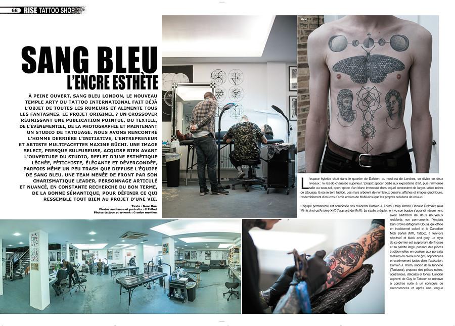 rise tattoo magazine #33 - sang bleu, london | sample - repo… | flickr