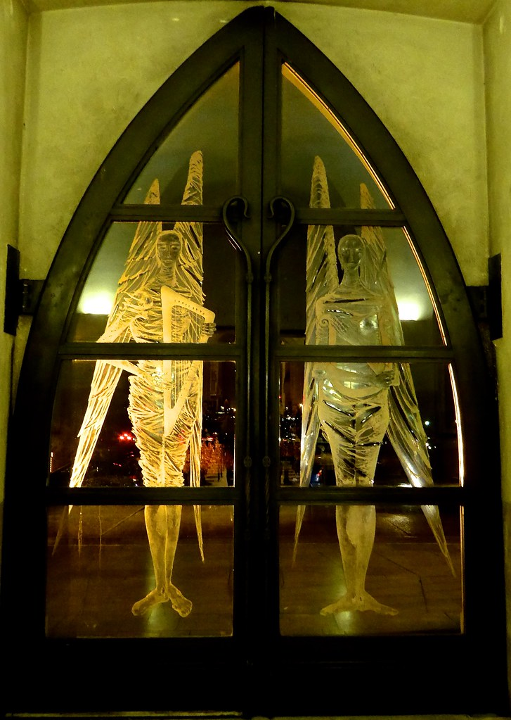 ... Angels West door Guildford Cathedral | by Englepip & Angels West door Guildford Cathedral | John Hutton engraved \u2026 | Flickr