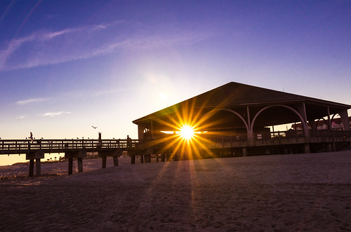 Sunset at the Tybee Island Pier | by m01229