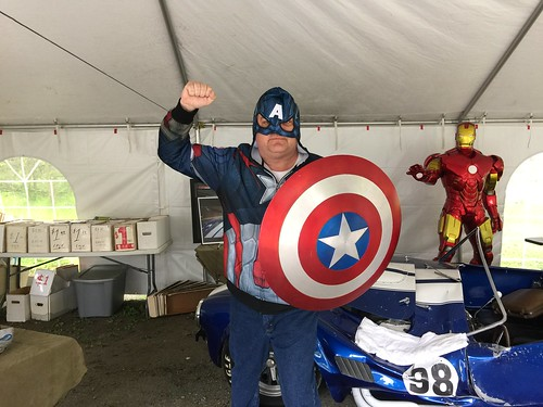 Scott with the Screen Used Captain America Shield | by Disney, Indiana