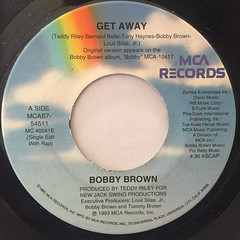 BOBBY BROWN:GET AWAY(LABEL SIDE-A)