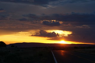 Sunset on 66, east of Seligman, Arizona | by RoadTripMemories