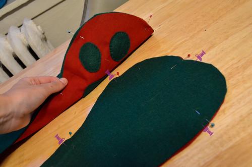 Step 5: Pin Lining to Arm Fabrics