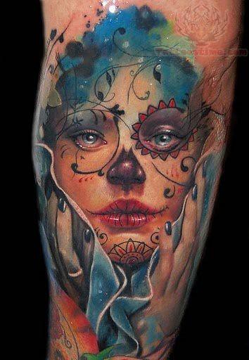 Sugar Skull Tattoo Sleeve Idea10 Long Lanh Flickr