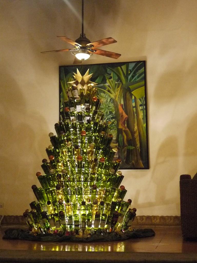 wine bottle christmas tree by cjmartin