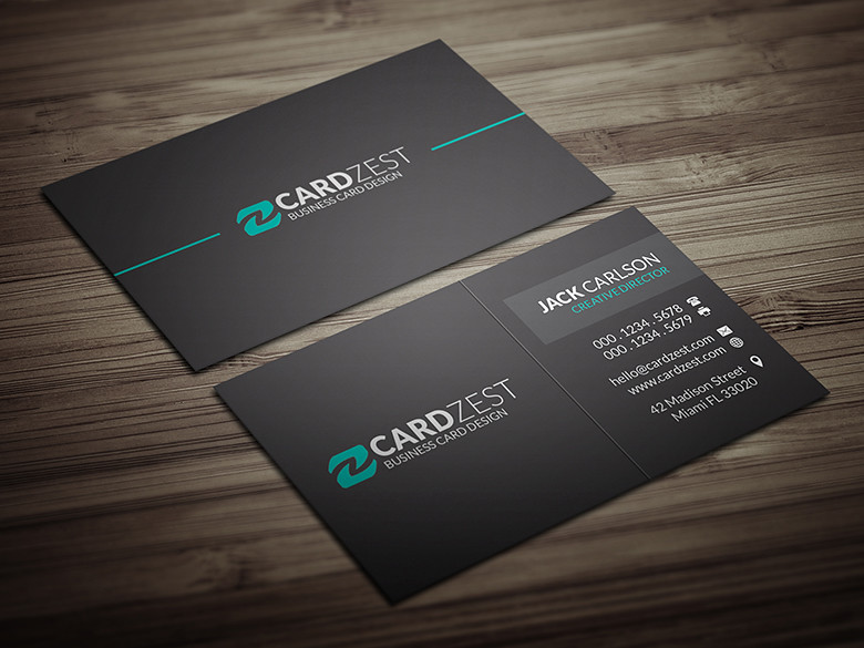 Modern minimal all black business card template download flickr modern minimal all black business card template by meng loong reheart Images