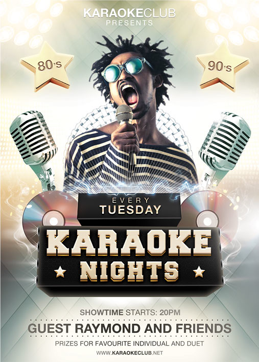 Karaoke Flyer Template  You Can Download The Psd File Here  Flickr