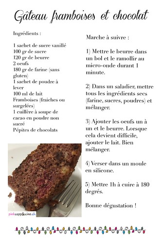 Recette gâteau framboises et chocolat | by pinkcappuccino