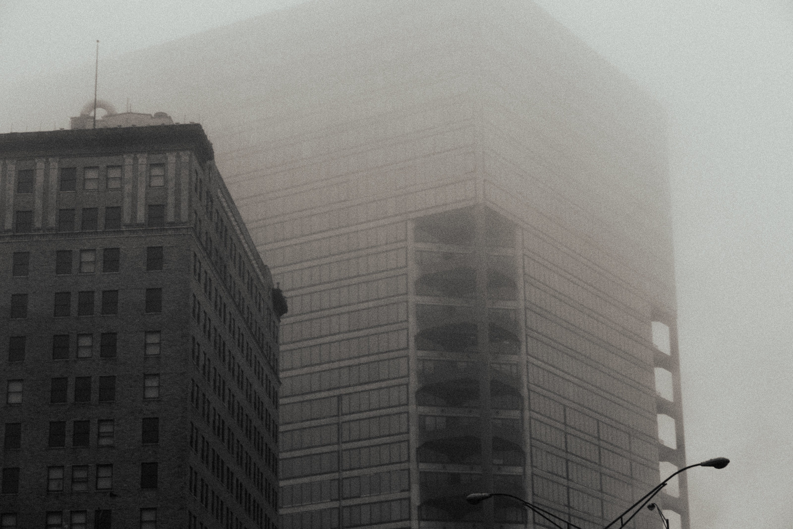 Downtown Atlanta in Fog, 2015 Jan