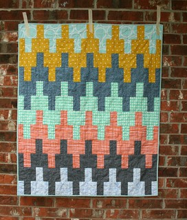 Aztec Chevron baby quilt | by QuiltsByEmily