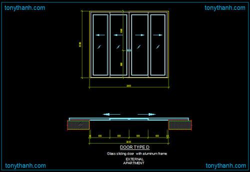 aluminio puerta corredera detalle dwg bloque dwg de alu On bloque de la puerta corredera de castorama