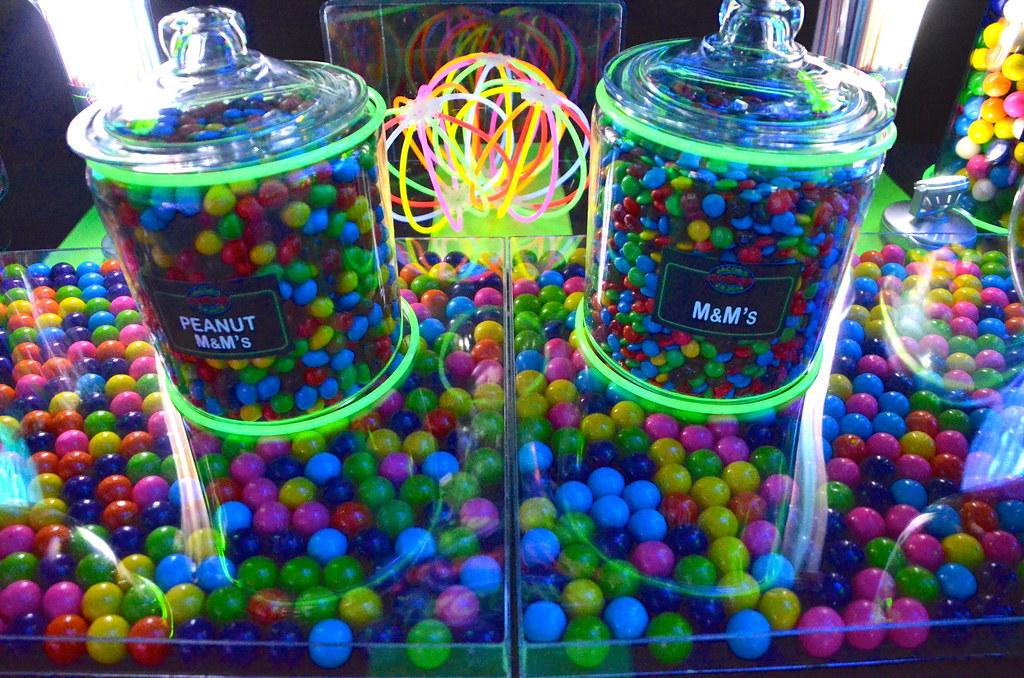 neon bar mitzvah candy buffet 2 cool neon bar mitzvah cand flickr rh flickr com Neon Candyland Centerpieces neon candy buffet ideas