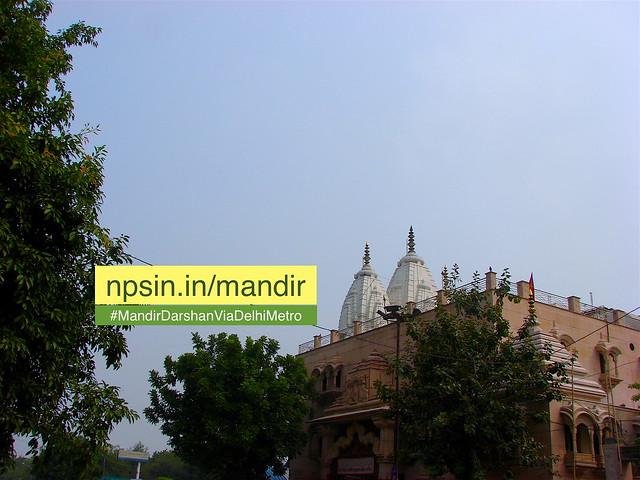 Photo is taken from nearby Jagdish Bal Mandir Public School 500 meter away from temple
