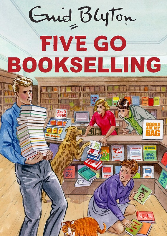 Five Go Bookselling - jacket