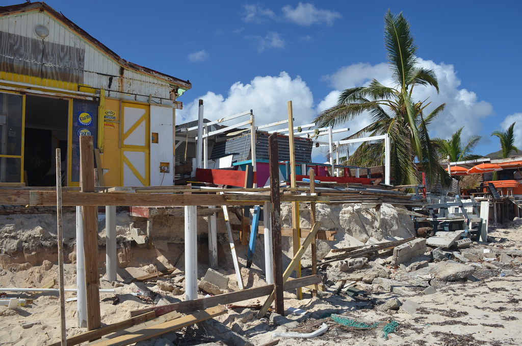 The Gonzalo Rebuild Has Begun Orient Beach St Martin Oct 2014