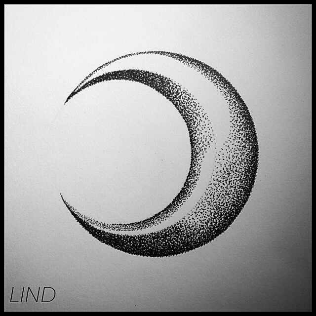 Luna dotwork dot drawing dibujo drawing