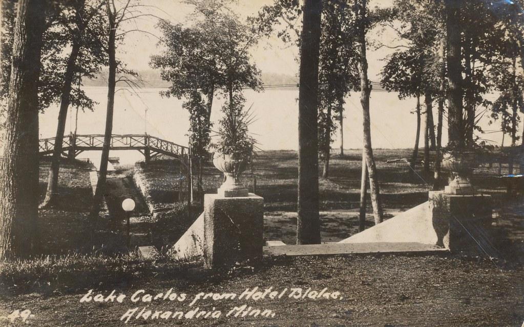 Lake Carlos From Hotel Blake - Alexandria, Minnesota