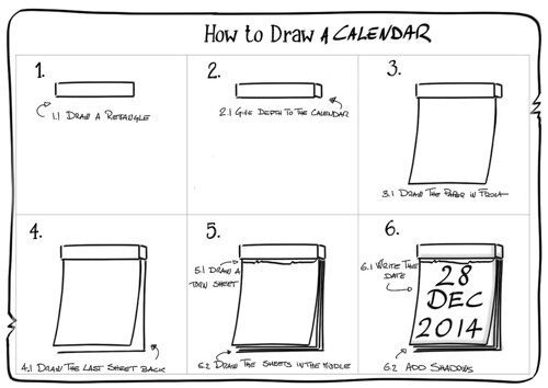 Calendar Drawing For Kids : How to draw a calendar six steps flickr