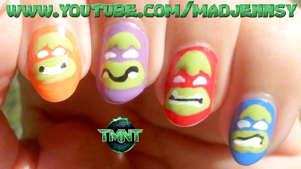 Teenage Mutant Ninja Turtles Nail Art (Flat & Easy!) | Flickr