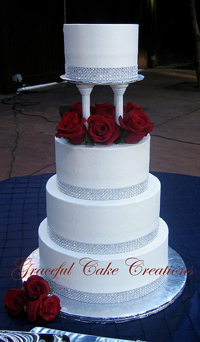 Wedding Cake Rhinestone Ribbon