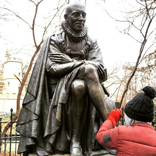 This gentleman look at @seb_frost polishing his feet is Montaigne and famous French philosophers in the 1500s.  Here he is in a park outside the Sorbonne :) #upsticksandgo #sorbonne #montaigne #philosopher #paris #france #travelgram #travellingtheworld #t | by UpSticksNGo