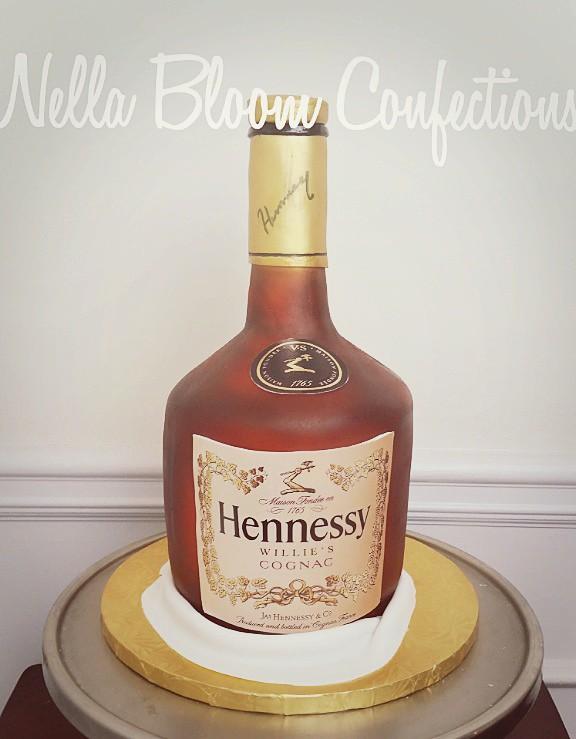 3d Hennessy Bottle Cake Nellabloom Flickr