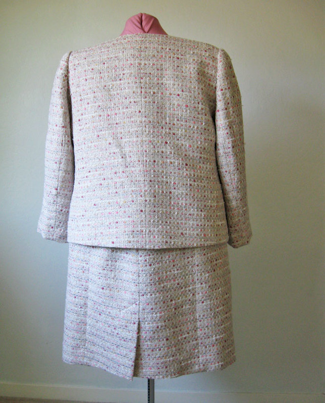 boucle suit back view