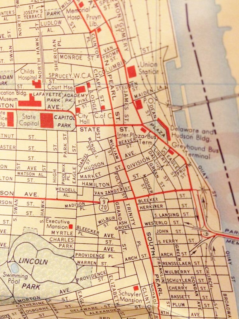 map southend and little Italy 1960 albany ny | AlbanyGroup Archive ...
