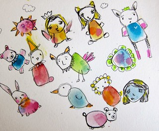 Watercolor Creatures | by marciadotcom