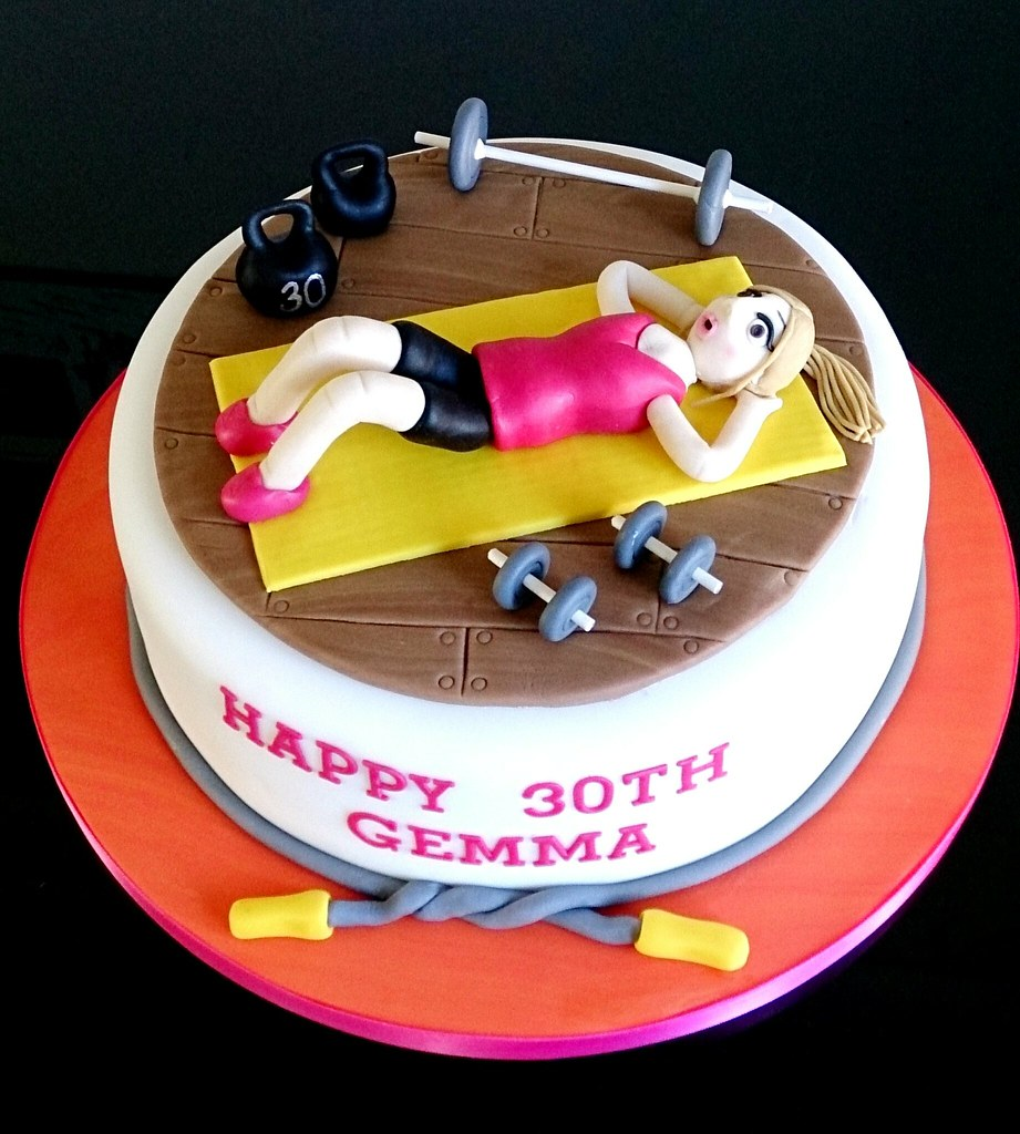 30th 30 Birthday Cake Gym Weights Dumbbell Barbell Flickr