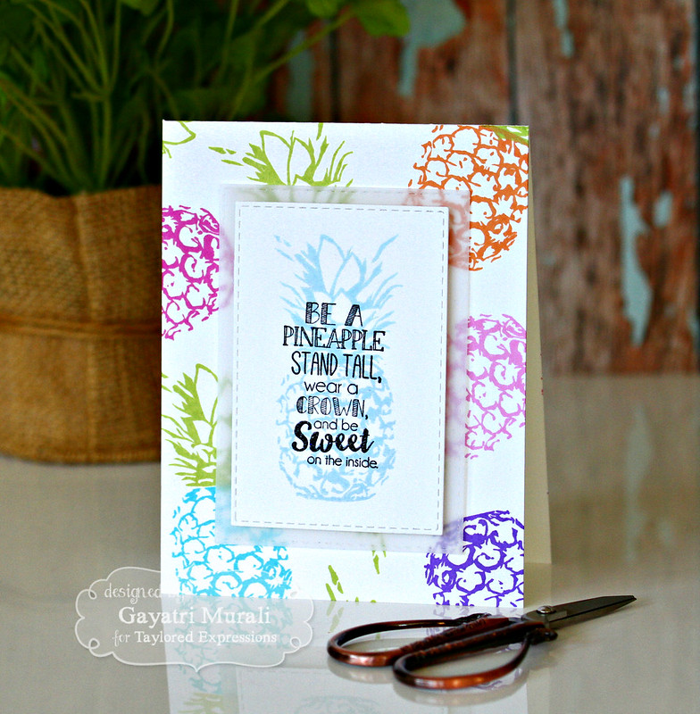 Stand Tall Pineapple card by Gayatri Murali