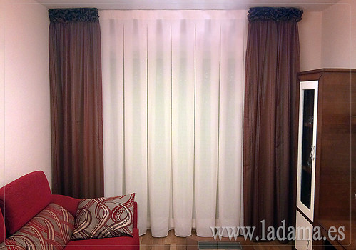 Cortinas a fuelles y dobles cortinas m s informaci n en for Cortinas dobles para salon