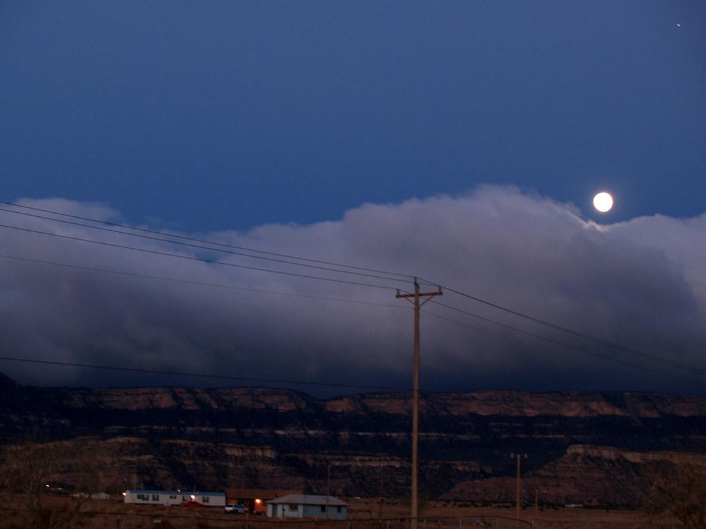Homage To Ansel Adams Moonrise Kayenta Arizona Kayenta Flickr