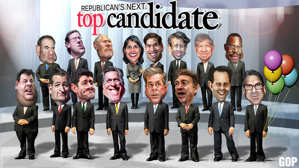 republican s next top candidate 2016 caricatures flickr