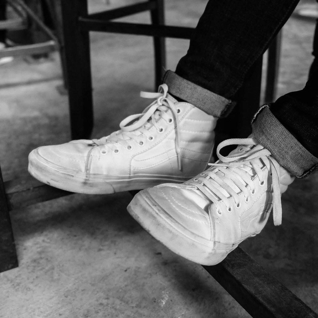 Vans Hi Sk8 On Feet