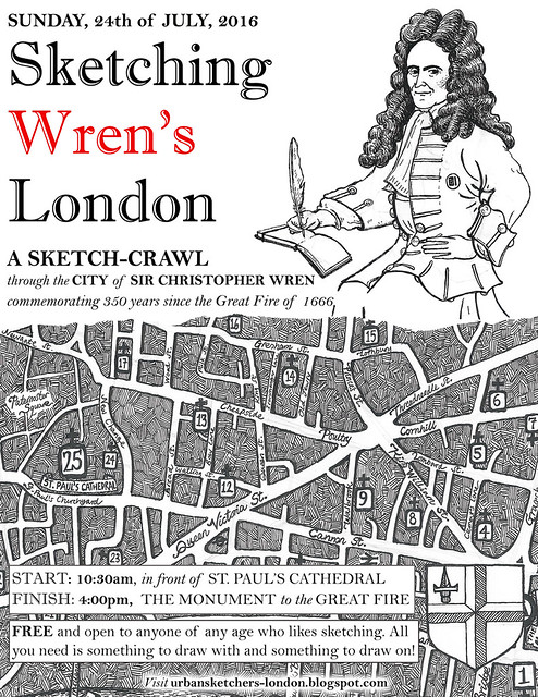 Sketching Wren's London