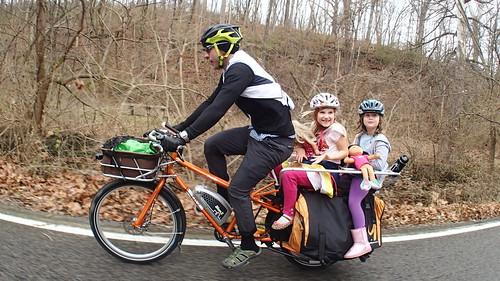 Girls with dolls on a cargo bike | by Mark Stosberg