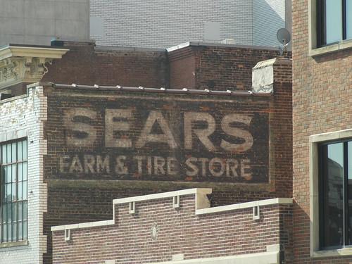 sears farm tire store sign nashville tn  ghost lamar flickr