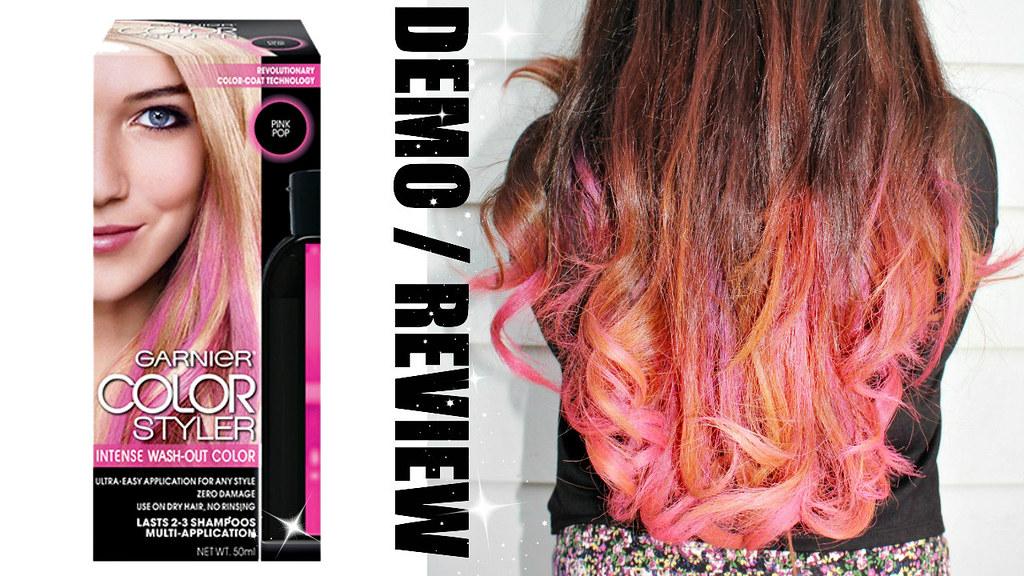 garnier color styler pink pop review by heyitsfeiii - Garnier Color Styler