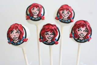 Wendy's Logo Cake Pops | by Sweet Lauren Cakes