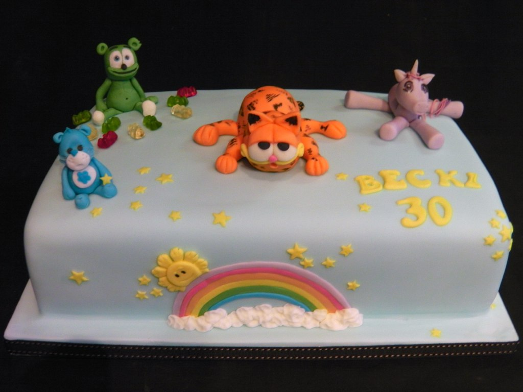 Garfield Gummy Bear Care Bear My Little Pony Birthday Flickr