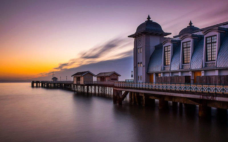Penarth Pier at sunrise