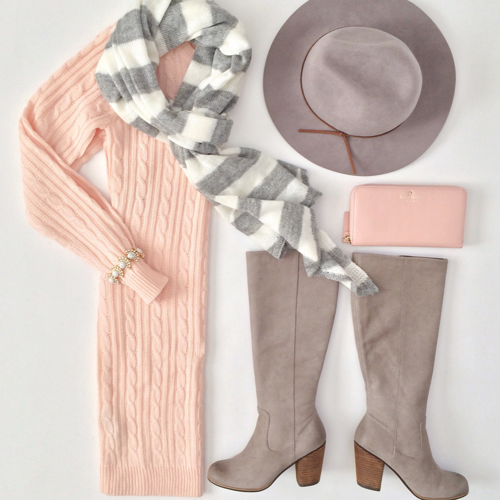 Outfit Layout Forever 21 Cable Knit Sweater Dress Bp T Flickr
