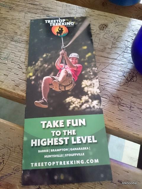 Treetop Trekking pamphlet