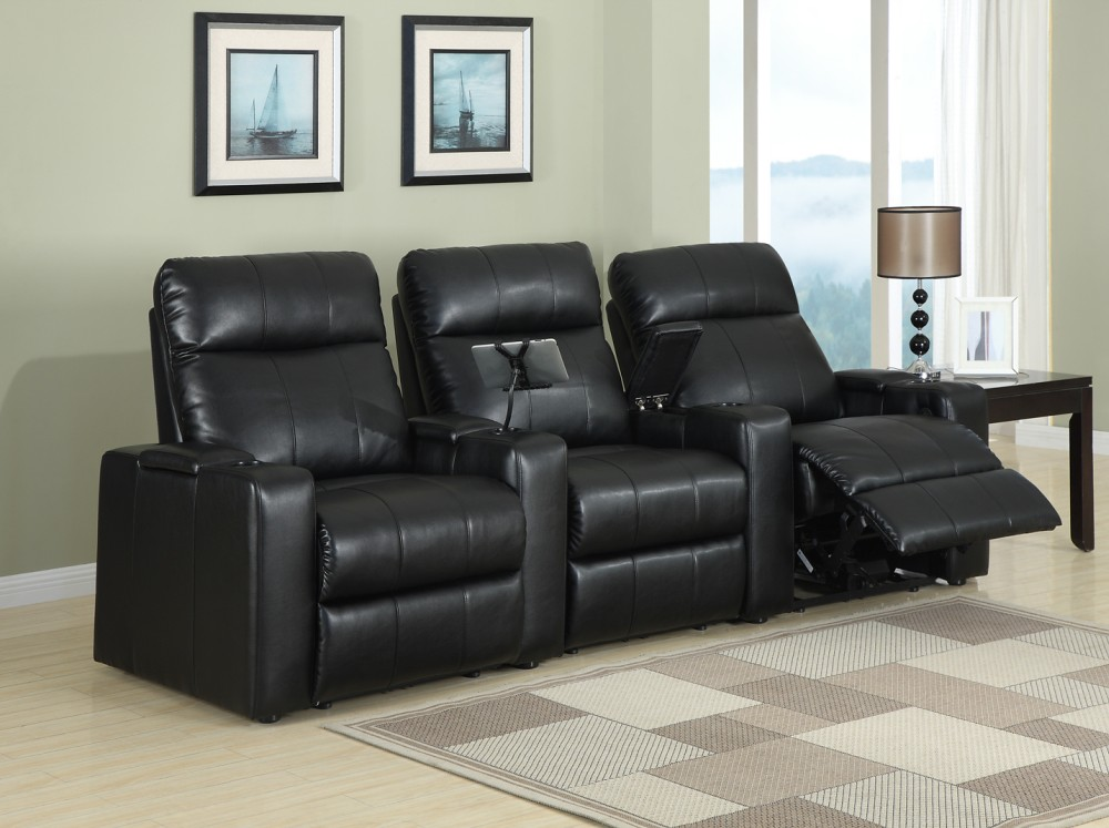 ... Row One, Plaza Power 2 Arm Recliner Black, Each For Only $1,