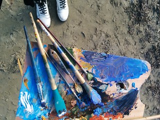 tools y brushes from fellow sketchers × sunday sketch group meeting: half moon bay ♥ | by meligrosa