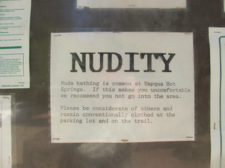 Nudity Warning At Umpqua Hot Springs Parking Lot